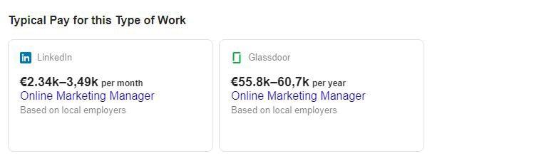 Google for Jobs Gehaltsschätzung JK Marketing