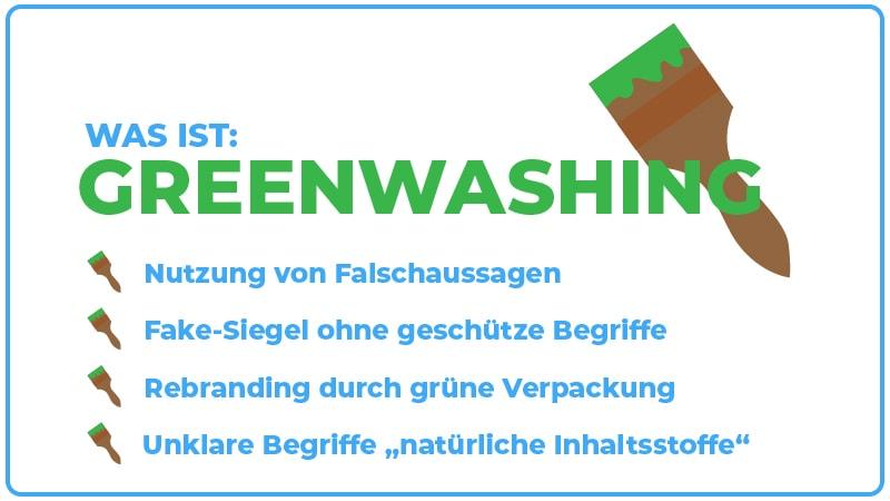 Greenwashing Infografik Was ist Greenwashing? JK Marketing