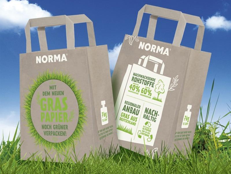 NORMA: Umweltschutz mit Einkaufstüten aus Gras JK Marketing