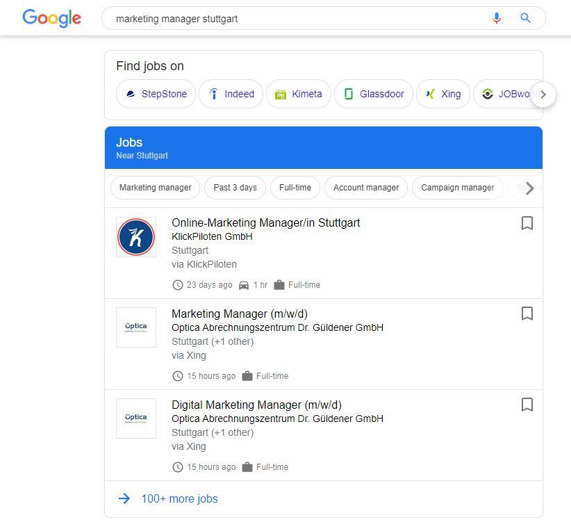 Google for Jobs JK Marketing