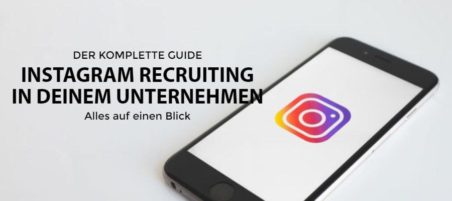 Instagram Recruiting in deinem Unternehmen Beitragsbild JK Marketing